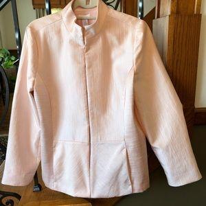 Chico's Peach-Pink Shiny Blazer